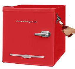 1.6 cu. ft. Mini Fridge in Red with Bottle Opener Classic Re