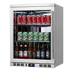 KingsBottle 140 Can 1-Door Under Counter Beverage Cooler wit