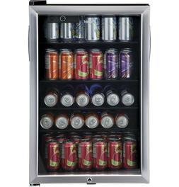 150 Can Locking Beverage Center Stainless Steel Glass Door w