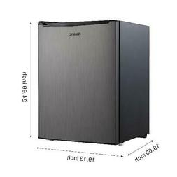 Galanz 2.7 Cu Ft Stainless Steel Single Door Mini Fridge