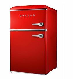 GALANZ 3.1-Cu.-Ft. Retro Compact Refrigerator - Red - SHIPS