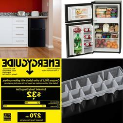 3.2 Cu Ft Fridge Mini Refrigerator Freezer Cooler 2-Door Com