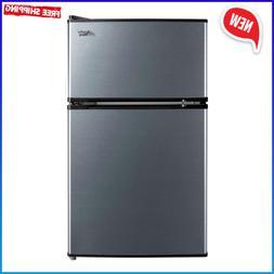 3.2 Cu Ft Mini Fridge Freezer 2-Door Compact Refrigerator St