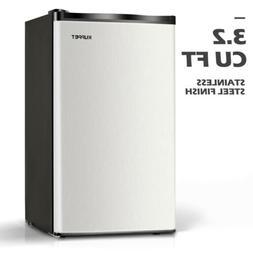 3.2 CU FT Mini Refrigerator Compact Fridge Freezer Stainless
