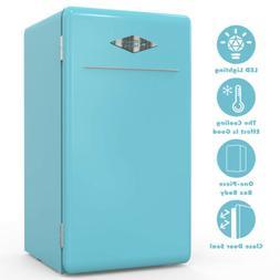 3.2 Cu Ft Retro Mini Refrigerator Fridge Compact Eco-friendl