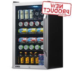 3.4 Cu Ft Mini Beverage Fridge Single Door 126 Can Refrigera