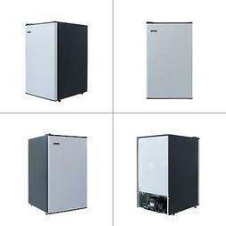 4.4 cu. ft. mini fridge in stainless look | magic chef refri