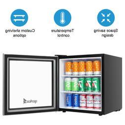 60 Can 1.6 Cu. Ft. Free Standing Beverage Center Mini Fridge