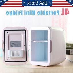 4L Portable Mini Fridge Table Top Electric Small Cooler Bedr