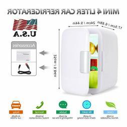 4Liter/6Can Mini Fridge Electric Cold&Warm Portable Refriger