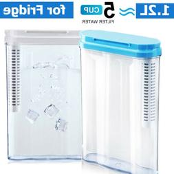 5 Cup Space Saver Water Pitcher with Filter Mini Size for Fr