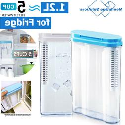 5 Cup Water Pitcher with 3-12M Replacement Filter, BPA Free,