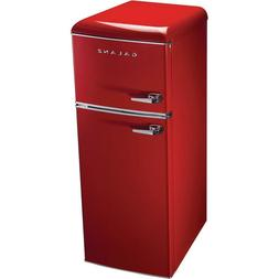 Galanz 7.6 cu. ft. Retro Mini Refrigerator Dual Door in Red