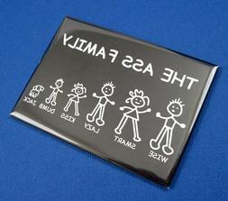 "ASS FAMILY - 2-1/2"" x 3-1/2"" Mini Metal Tin Sign Refrigerato"