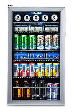 BEST Beverage Cooler and Refrigerator Mini Fridge with Glass
