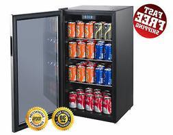 Beverage Center Cooler Mini Fridge Refrigerator Glass Door 1
