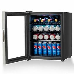 COSTWAY Beverage Refrigerator and Cooler 52 Can Mini Fridge
