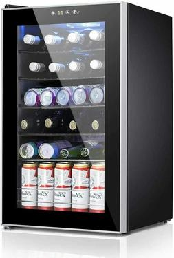 Beverage Refrigerator and Cooler 85 Can or 24 Bottle Mini Fr