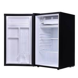 Black Mini Compact Refrigerator Small Fridge Dorm Cooler Bev