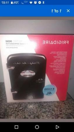 Frigidaire Black Portable Retro 6-can Mini Compact Refrigera