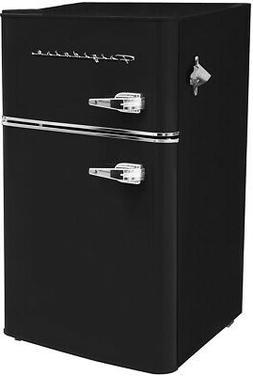 Frigidaire Black Retro 3.2 cu ft 2 Door Refrigerator Freezer