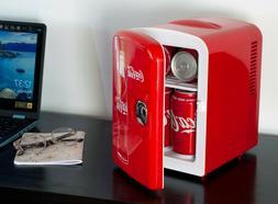 "*BRAND NEW* Coca Cola 6 Can 10"" Mini Fridge with 110V & 12V"