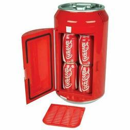 Koolatron Coca-Cola 8-Can Portable Mini Fridge, Red