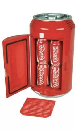 Coca Cola Mini Fridge Can Shaped Refrigerator 8 Cans Soda Co