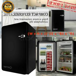 COSTWAY Compact Refrigerator Freezer 3.2 Small Mini Fridge C