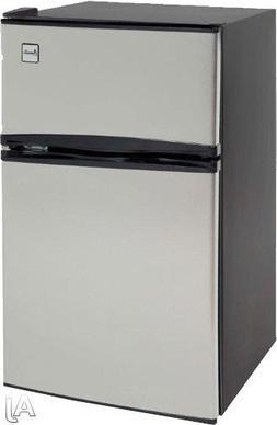 Counter-Height 3.1 Cu. Ft Two-Door Refrigerator/Freezer, Bla