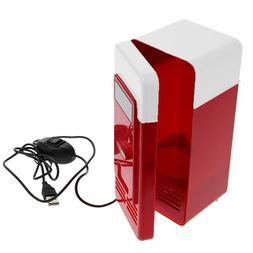 Desktop Mini USB Gadget Beverage Cans Cooler Warmer Refriger