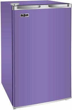 Dorm Room Fridge Freezer 3.2 Mini Refrigerator Purple Single