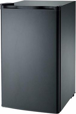 Dorm Room Fridge Freezer 3.2Cu Mini Refrigerator Black Singl