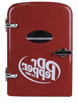 Dr. Pepper Soda 6 Can Mini Red Refrigerator Retro Fridge Bev