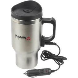 Wagan EL6100 12V Stainless Steel 16 oz Heated Travel Mug wit