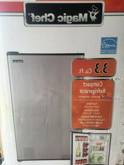 Magic Chef HMR330SE 3.3 cu.ft  Mini Refrigerator, Black/Stai