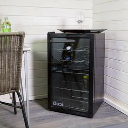 iceQ 93L Under Counter Glass Door Display Wine & Bottle Drin