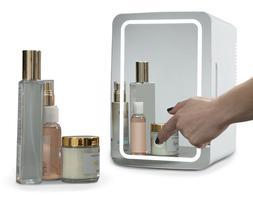 Koolatron Mirrored LED Mini Cooler/Mini Fridge for Cosmetics