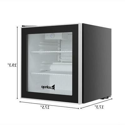1.6 Ft Standing Beverage Fridge Stainless Steel Glass Door