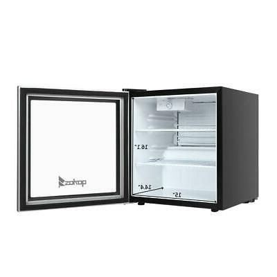 1.6 Cu Standing Beverage Fridge Stainless Steel Glass Door