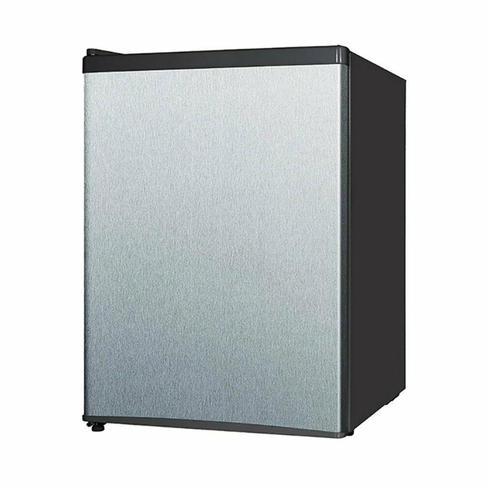 Midea 2.4 Cu Ft Compact Refrigerator WHS-87LSS1, Stainless S
