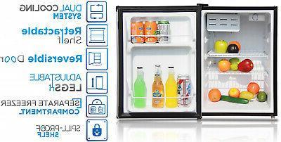 2.4 Ft Fridge Small Chiller Cooler Freezer,