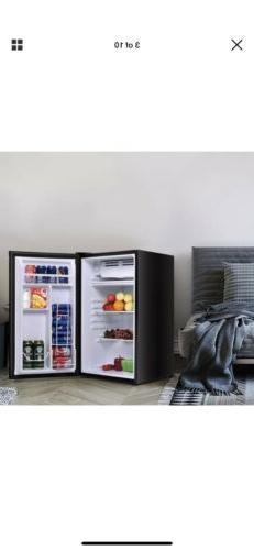 Costway 2-Door Compact Refrigerator 3.2 Cu Ft. Unit Small Fr