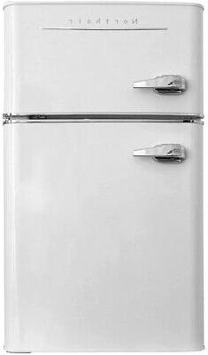 Northair 2-Door Mini Refrigerator With Handle, 3.2 Cubic Fee