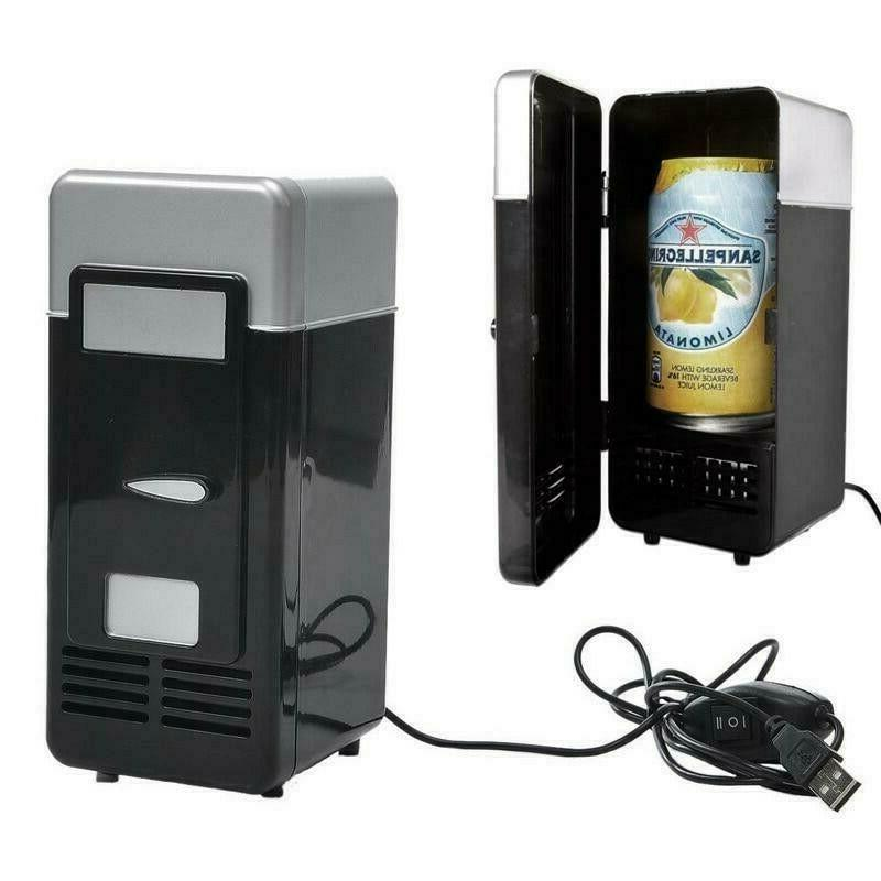 2 In 1 Desktop Mini USB Gadget Beverage Cans Refrigerator