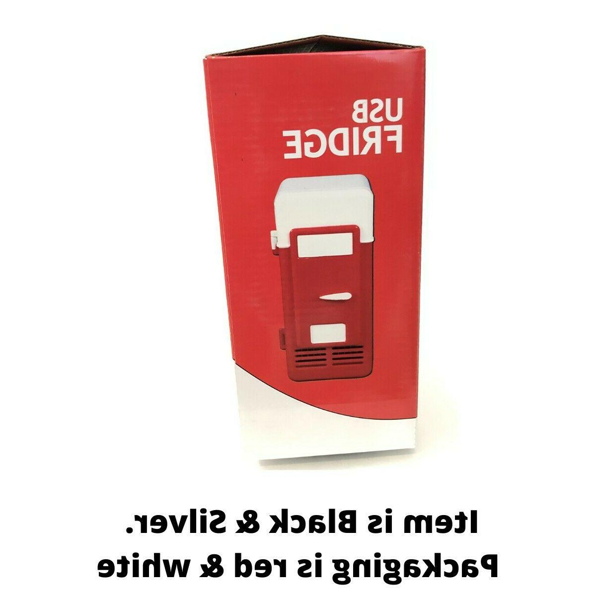 2 1 Mini USB Gadget Beverage Cans Cooler Warmer Refrigerator