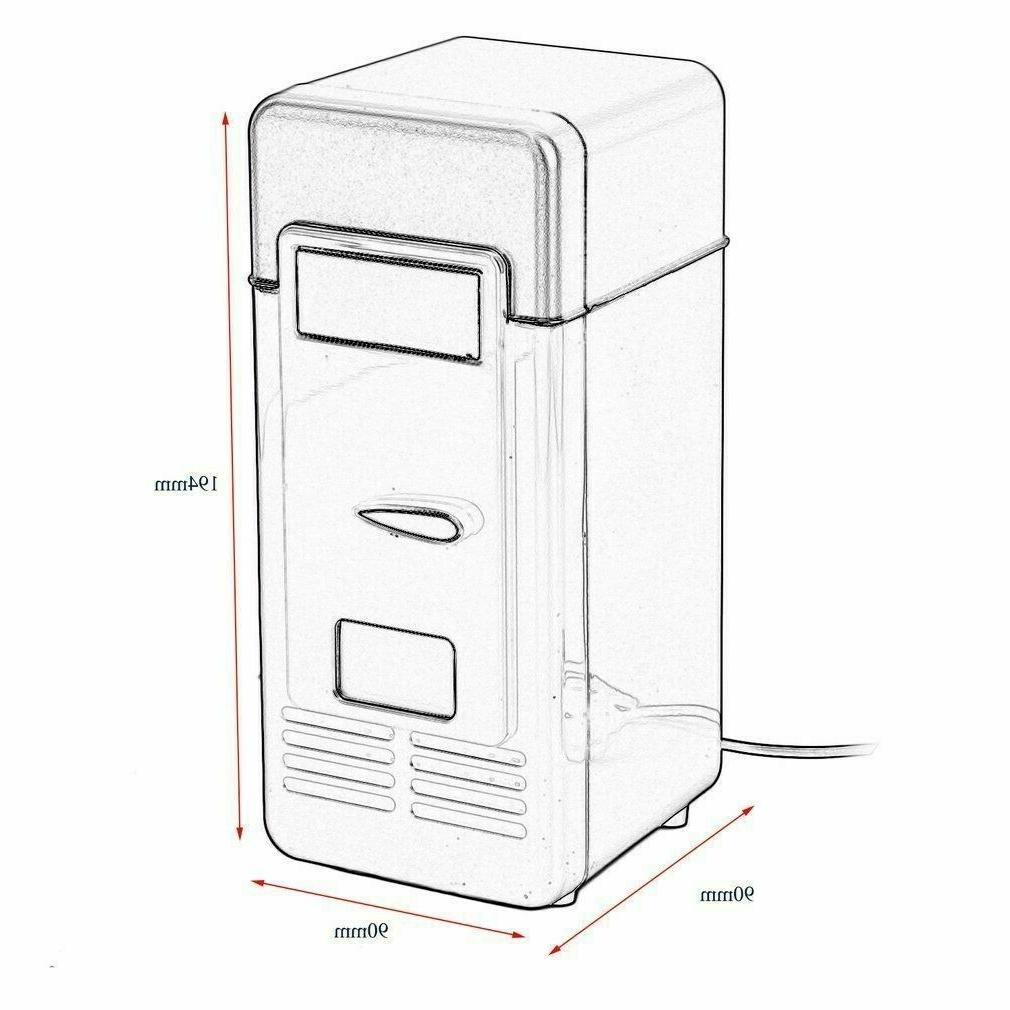 2 Mini Fridge USB Beverage Refrigerator