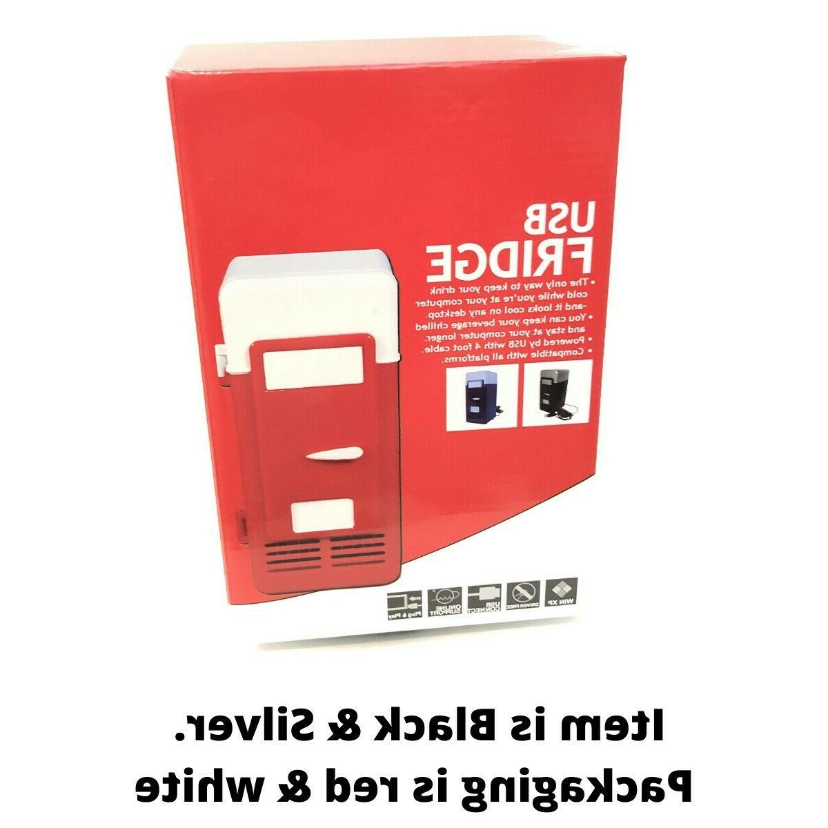 2 In Mini USB Beverage Cooler Warmer Refrigerator