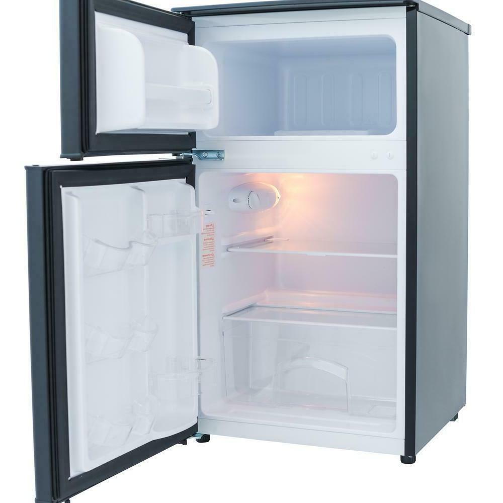 2 Door Upright Fridge Freezer 3.1Cu Ft Compact Storage Apart