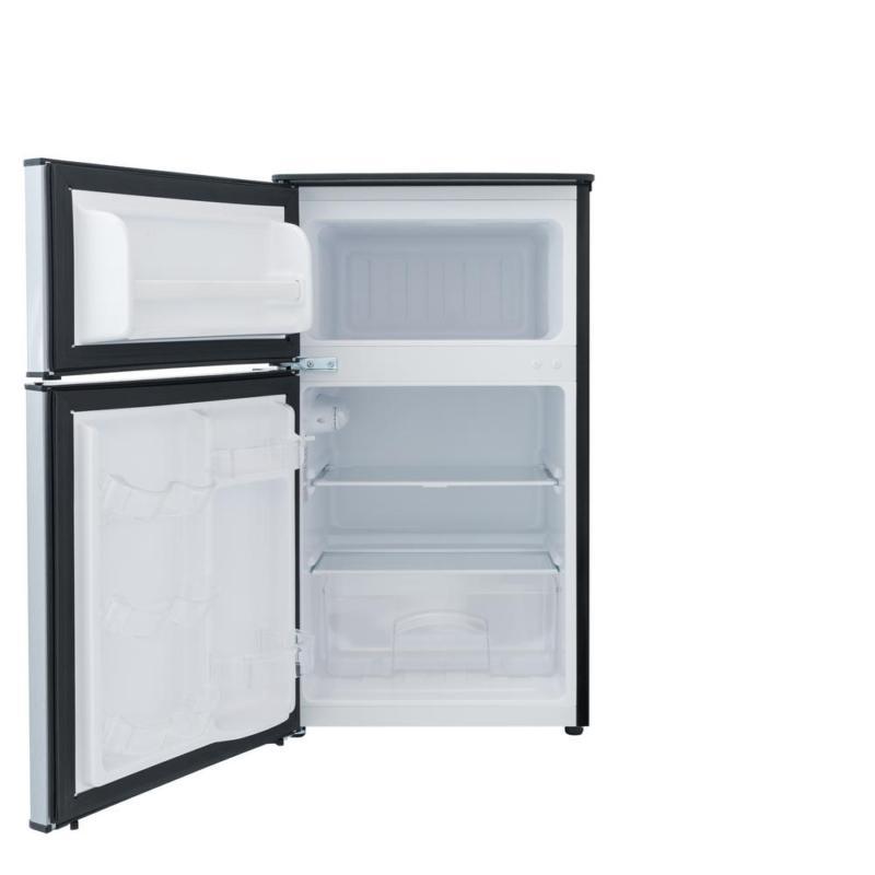 3.1 Cu Stainless Mini Fridge Freezer 2-Door Compact Refrigerator Home